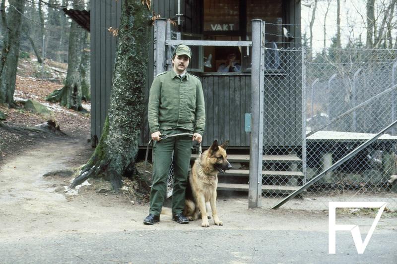 Benny Stoltz med vakthund